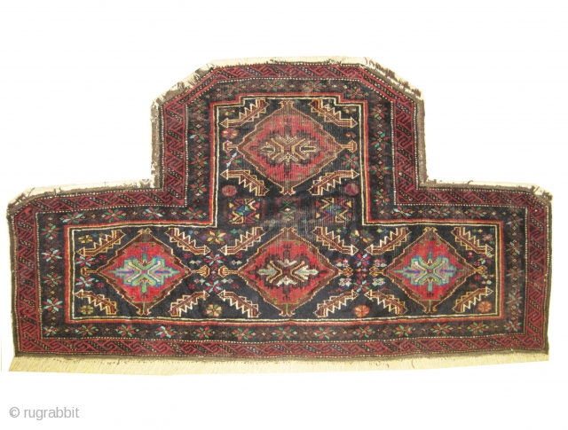 "Horse cover Belutch Persian circa 1935 old. Collector's item. Size: 116 x 62 (cm) 3' 10"" x 2'   carpet ID: T-475 