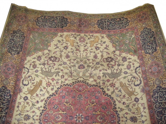 "Amritsar Indian, knotted circa in 1922 antique, 340 x 245 (cm) 11' 2"" x 8'  carpet ID:P-6020