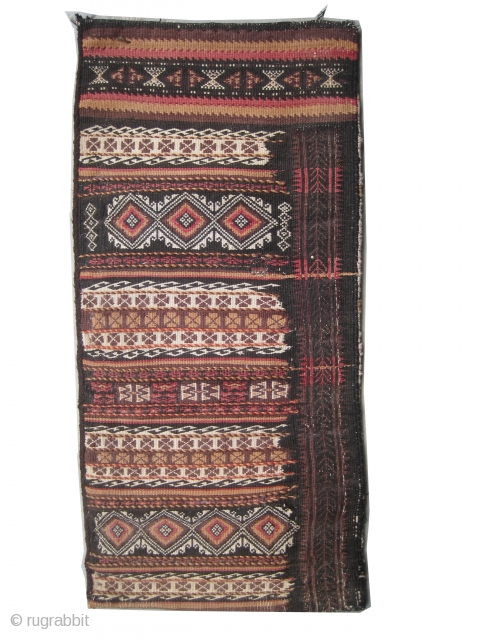 "Belutch Persian circa 1920 Semi antique. Collector's item, Size: 94 x 44 (cm) 3' 1"" x 1' 5""  carpet ID: UOE-12