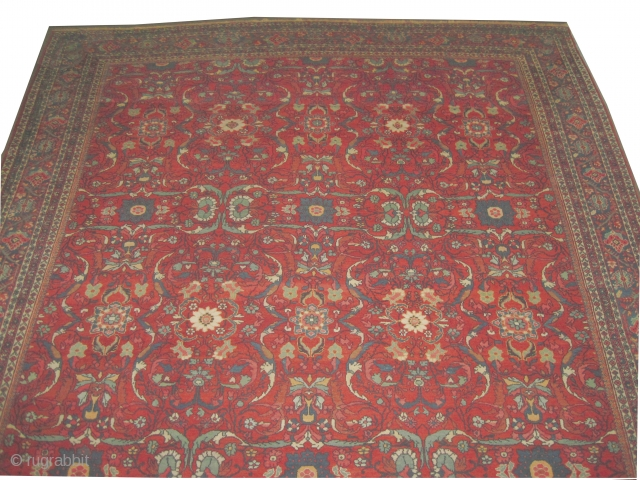 "Mahal Persian circa 1910 antique. Size: 560 x 350 (cm) 18' 4"" x 11' 6""  carpet ID: P-3767