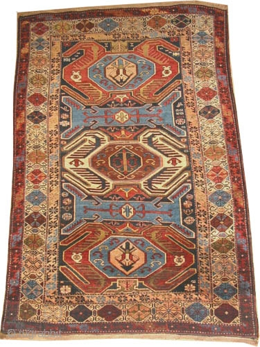 "Lenkoran Caucasian knotted circa in 1915 antique, collector's item, 180 x 127 (cm) 5' 11"" x 4' 2""  carpet ID: RS-187