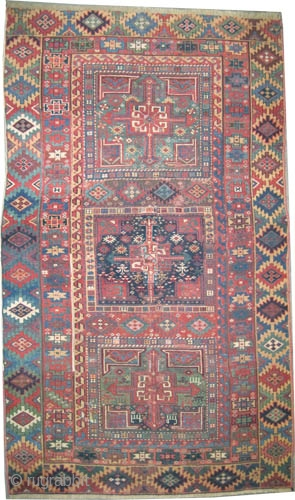"Shahsavan Kurd Persian, circa 1860, antique. Collector's item, Size: 240 x 142 (cm) 7' 10"" x 4' 8""  carpet ID: K-1326 