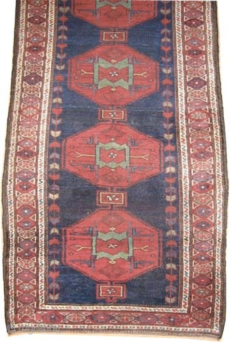 """Noubaran Persian, circa 1912, antique, collector's item, Size: 330 x 104 (cm) 10' 10"""" x 3' 5""""  carpet ID: K-4101  vegetable dyes, the black color is oxidized, the knots are hand  ..."""