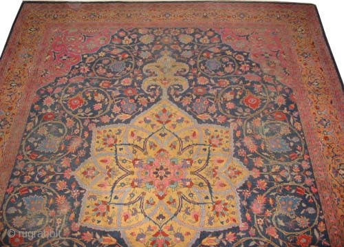 "Tabriz Persian knotted circa in 1925 semi antique. Size: 445 x 328 (cm) 14' 7"" x 10' 9"" 