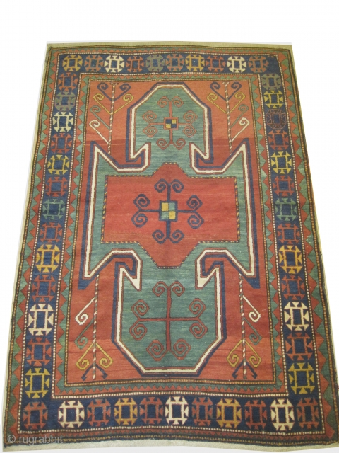 "Sevan-Kazak Caucasian circa 1915, Size: 263 x 174 (cm) 8' 7"" x 5' 8""  carpet ID: RS-348