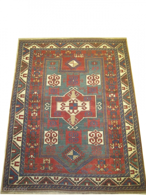 "Fachralo-Kazak prayer Caucasian, circa 1890 antique. Size: 198 x 158 (cm) 6' 6"" x 5' 2"" 