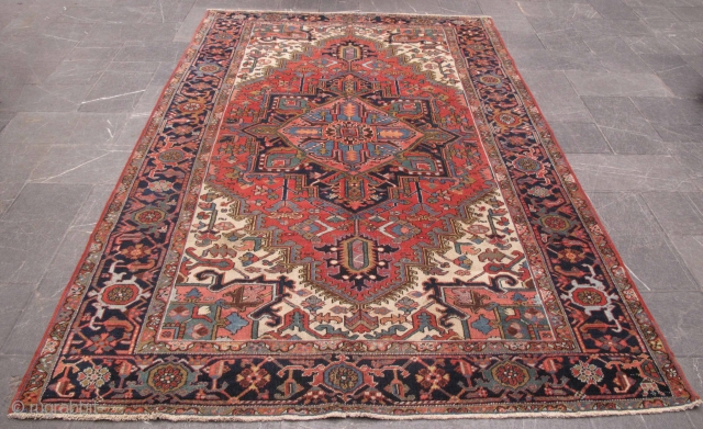 Rug# 6500, Antique Heriz, circa 1900, collectable, restored, in immaculate condition. Persia, size 315×204 cm  Cheap freight to anywhere in the world can be arranged. Melbourne-Australia www.majidcarpets.com