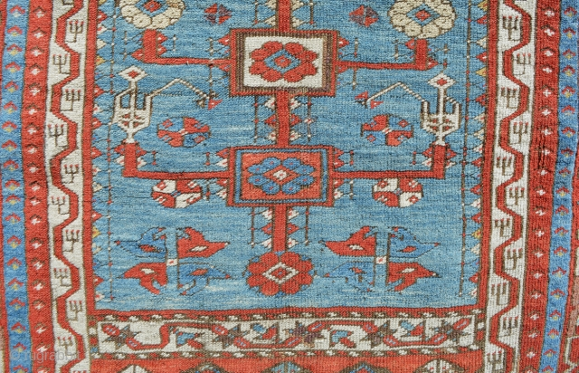 """Beautiful Ladik Prayer 4'1"""" x 6'9"""", dated 1270/1853. Spacious and well drawn design with wonderful old colors, aubergene, yellow, green, light blue and saturated reds. Classic motifs with beautifully formed Tulips and  ..."""