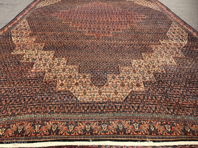Antique persian Rug Senneh 13.6x23.8 