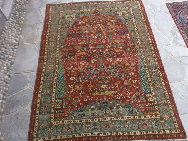 This antique carpet was exported from Iran before the 01.01.2015.   ANTIQUE extra fine QASHQHA'I KASHKULY tireh. In very, very good condition. All natural dyes and shiny wool. PERFECT like a new carpet. WARM REGARDS from COMO-LAKE  ...
