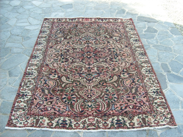 Origin Chahar-Mahal va Bachtyari for this carpet old. It was knotted with very original color. Size  m.3.30 x 2.25. Perfect condition. Washed and clear. NOTES: This carpet before the 01.01.2015 has been exported from Persia. More  ...
