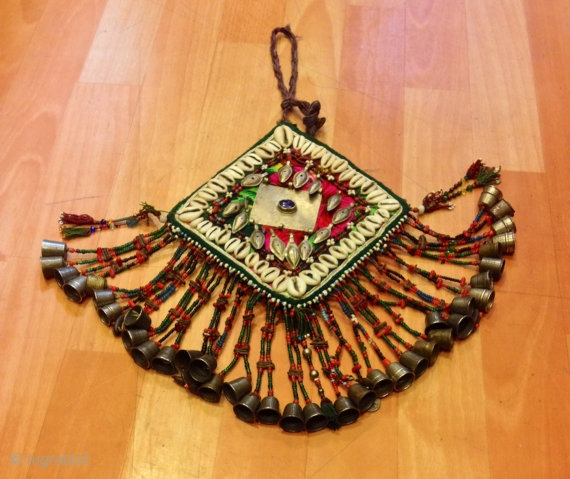 Turkmen garkhin goncuk pendant necklaces ethnic tribal unuqie vintage handmade costume accesories  Size: Height : 30 cm  Fast shipping allover the world,!
