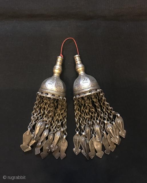 Antique turkmen silver jewelry gubba  Heights: 13.50 cm
