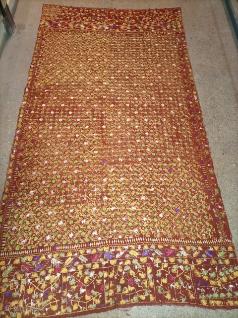 Old phulkari shawl excellent condition for price and size mehmood_yousafzai@yahoo.com