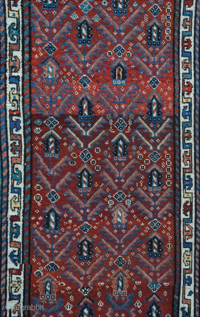 Antique Luri Tribal rug with wonderful variety of natural colors and silky wool pile, floppy soft handle. circa 1880 - 4'3 x 7'7 - 130 x 230 cm.