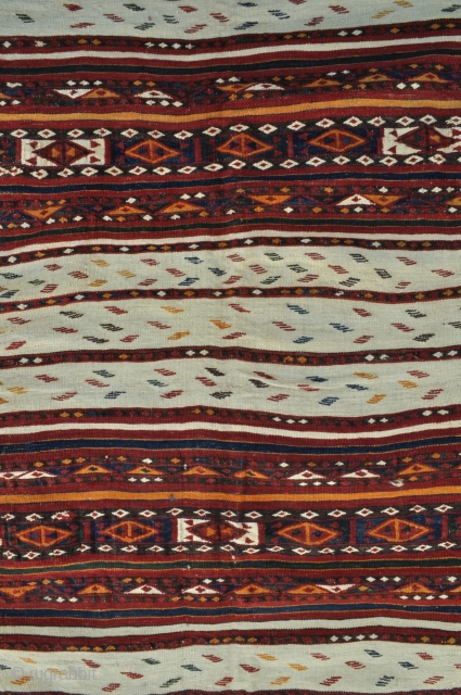 Central Asian Kilim weaving from Sari-Pul area in Northern Afghanistan, very good original condition - about - 6'10 x 10'2 - 210 x 310 cm.