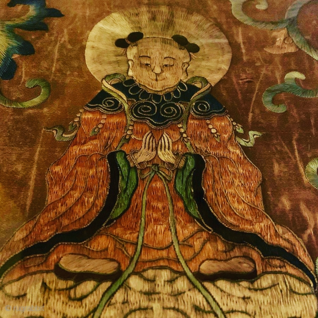 Chinese textile fragment detail.