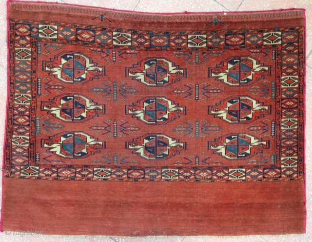 Elegant Yamut Chuval of 9 gul group ! Stunning colors and fine graphic . 