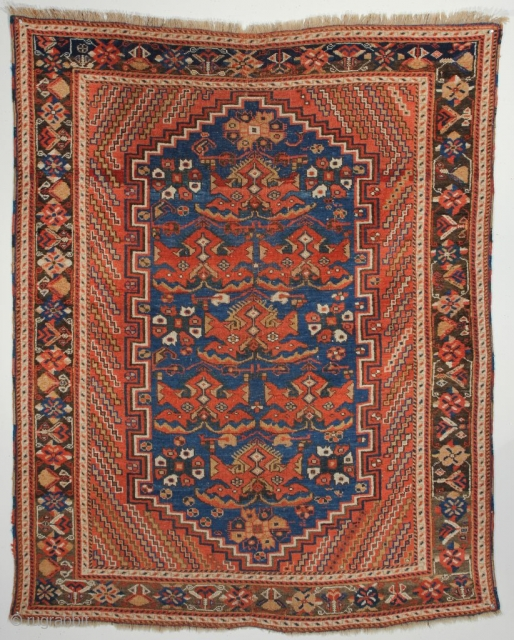 Afshar Rug with Phoenix Design; Southeast Persia; Second half 19th century; 4-0 x 4-11 ft.