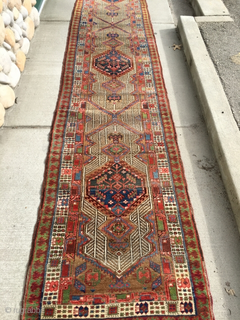 "Another Serab runner also measuring 3'x 15'7"" in better condition than the other one: whereas the other one has 8 or 9 horizontal worn spots, this one has 4 area's with a  ..."