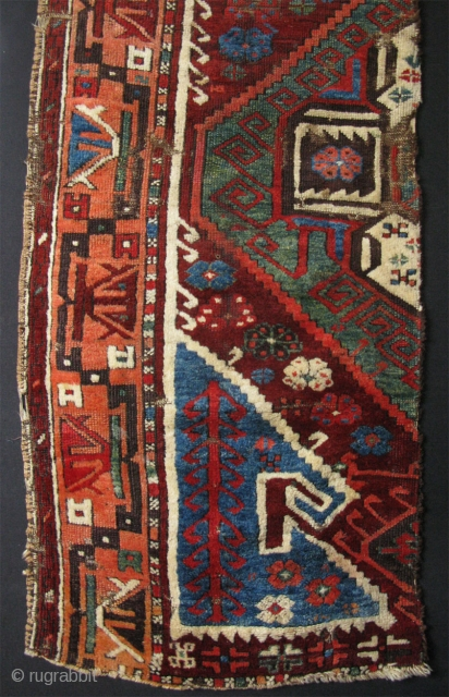 "Konya Karapinar rug fragment. Half of a inherited shared rug. Great wool and colors. Circa mid 19th. century size : 72"" X 28"" - 183 cm X 71 cm"