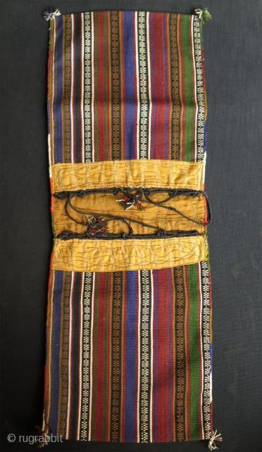 """Jajim silk small size double bag. Size: 8.6"""" x 24.8"""" - 22 cm x 63 cm."""
