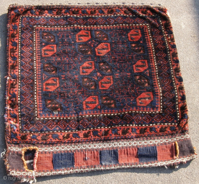 """Baluch bag with back 23 x 24"""" keep something in it"""