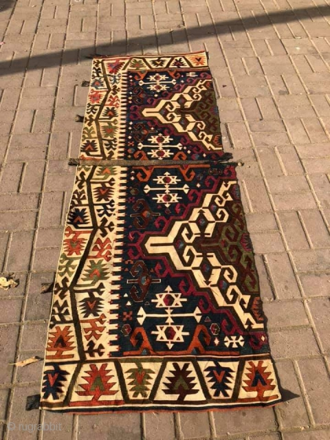 Anatolian kilim fragment one part.size 205×73 cm.Email for more info and pics.