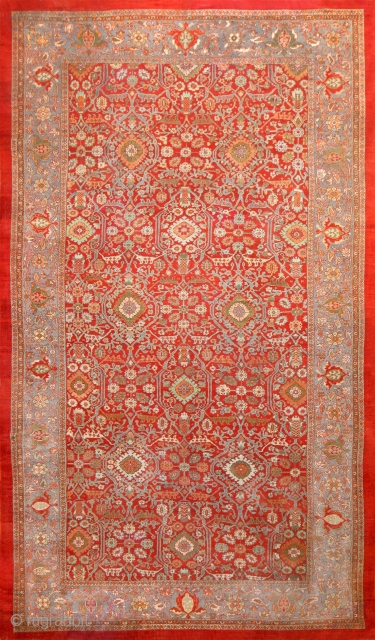 "This piece is part of our upcoming Feb 6th auction.OVERSIZE ANTIQUE PERSIAN SULTANABAD , SIZE 12'8"" X 21'7"" ( 3.86 M X 6.58 M ) , Circa 1920's..This auction includes antique  ..."