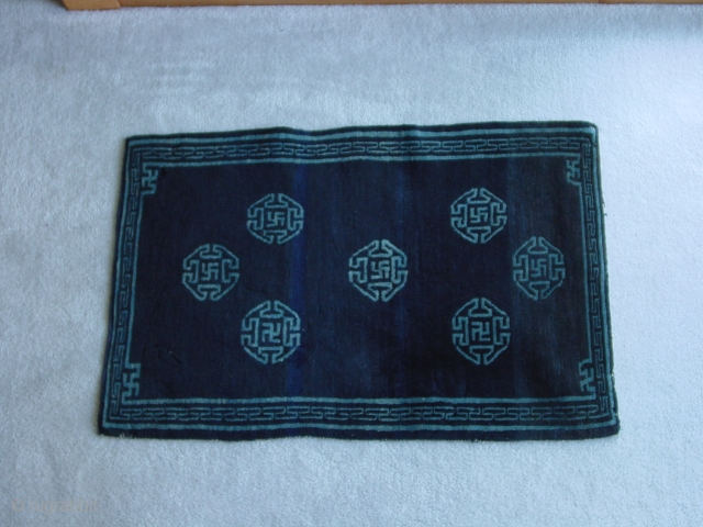 Tibetan saddle top or mat, most likely early 20thC excellent condition, Nick Wright