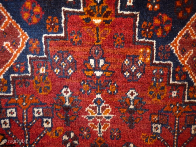 Southwest Iran, Nafari Rug, 160x105cms, all natural colours, excellent condition, soft silky wool, woven in about 1920-1930, the photos taken in artificial light dont do justice to the wonderful colours.
