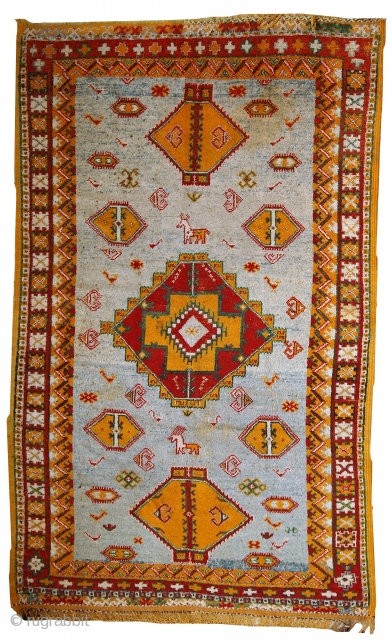 #1C438  Hand made Moroccan rug 4.8' x 7.8' ( 147cm x 239cm)