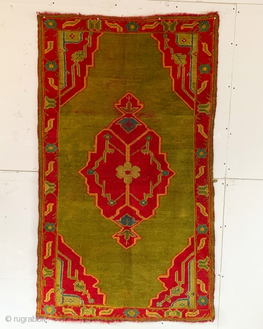 Antique ushak rug. Approx. 6x4ft. No repairs. Nice decorative rug for a reasonable price.