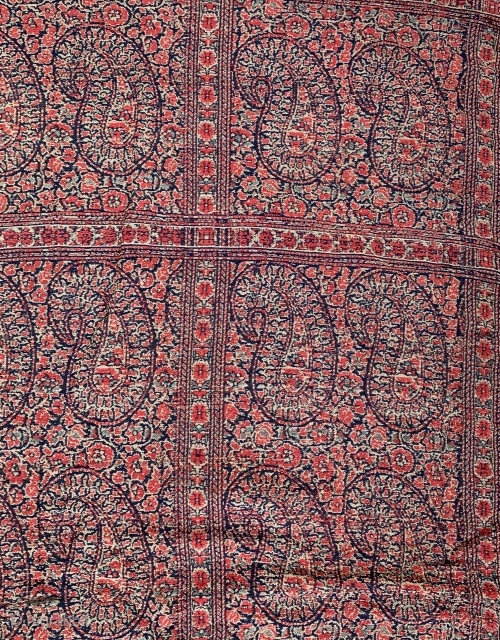 antique persian shawl , need some conservation work.