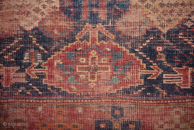 afshar fragment in an extremly rare condition! but with an interesting early design and saturated colors......