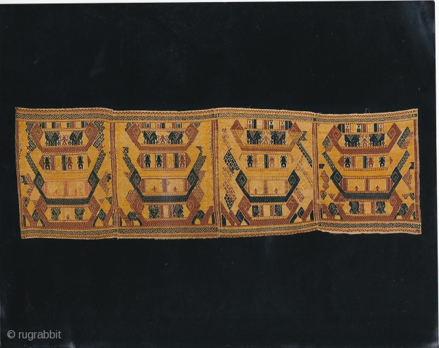 Indonesian textiles  Indonesia 019; Tampan, important ceremonial cloth, supplementary weft weave, approximately late 19th century.
