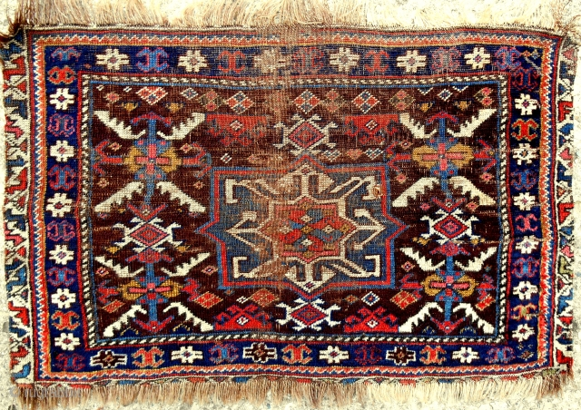 One of the oldest & finest Southwest Persian bagfaces I have ever handled. Like velvet. Early 19th c. You will not see another.