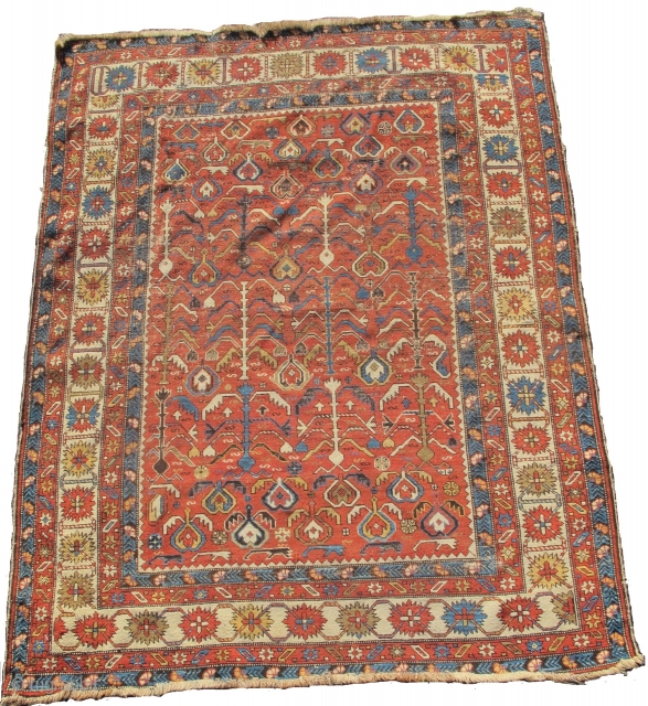 """Shirvan rug, 4'4"""" x 5'5""""  now 30% off listed price of $2450  https://www.peterpap.com/product/shirvan-rug-16/"""
