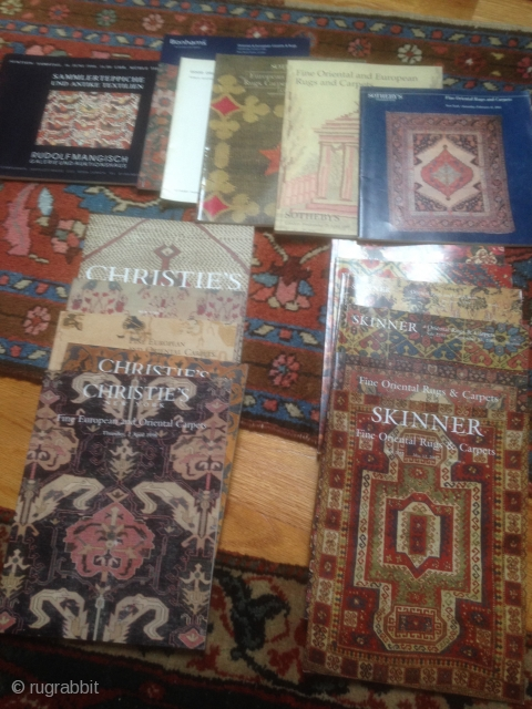 Misc 18 auction catalogues Sotheby's Christies, Skinner all clean crisp.