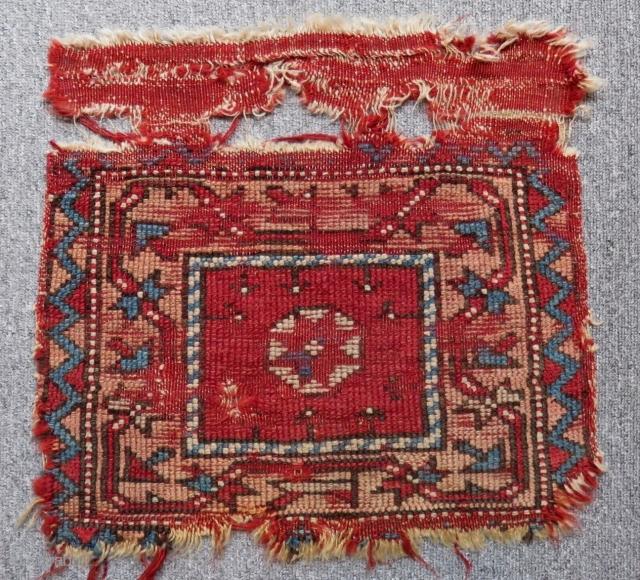Antique West Anatolian Bagface Size.44x31 Cm
