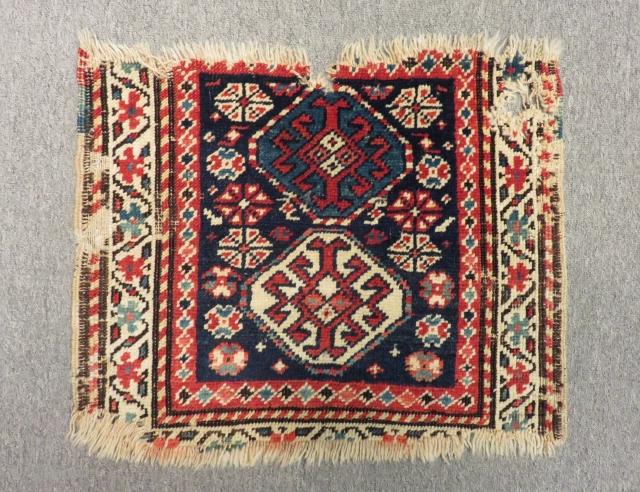 Antique Caucasian Genje Bagface Size.50x42Cm