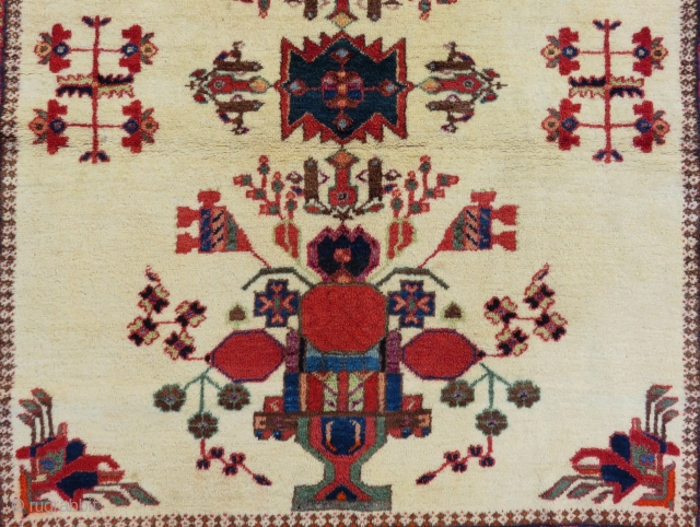 Antique Persian Avshar Rug Circa 1880-1890 Size.130x110 Cm