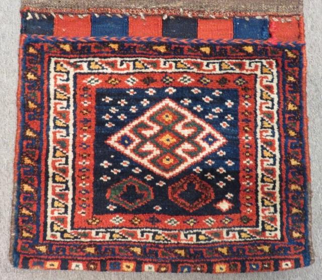 Antique Persian Shiraz Saddlebag Size.110x58 cM
