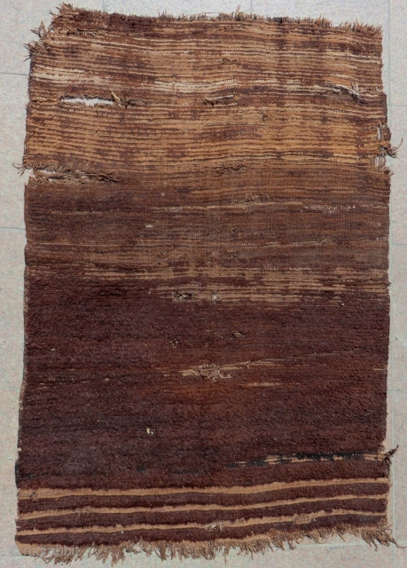 Early 19th Century Central Anatolian Karapınar Natural Colour Tulu Size.140x97 Cm