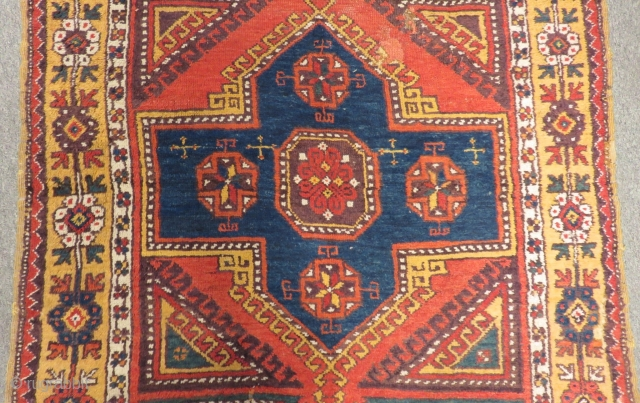 Antique Central Anatolian Aksaray fragment Carpet both sides cut and shut as you can see from pictures Size.184x123cm