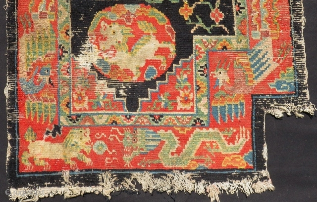 Antique Tibetian Horse Cover fragment Size.61x55cm