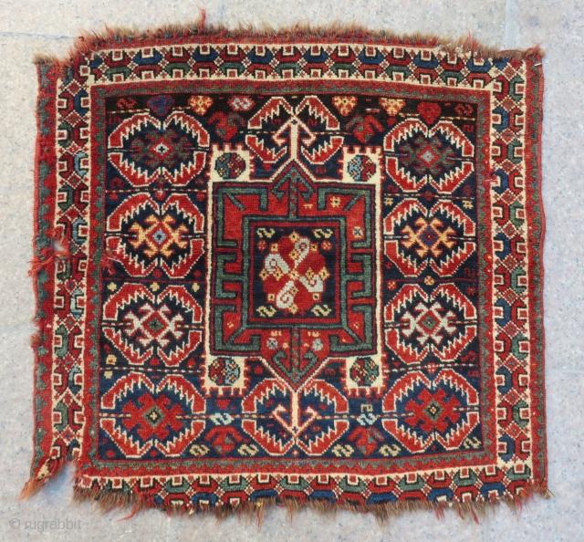 Antique Persian Khamseh Bagface Size.68x63 Cm