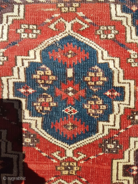 Here is a very rare mid 19c red ground Ertmen gul Chodor main carpet fragment,