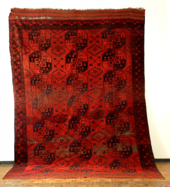 Ersari Bukhara, Bochara, antique , 257 x 360 Cm. 8.5 ft. x 12 ft. 