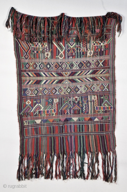 Servilletta -- Old  - 1930-40 - Guatemalan textile in excellent condition and of very high quality Utility cloth used by women - cotton with cotton brocade yarns in single face supplementary weft  ...